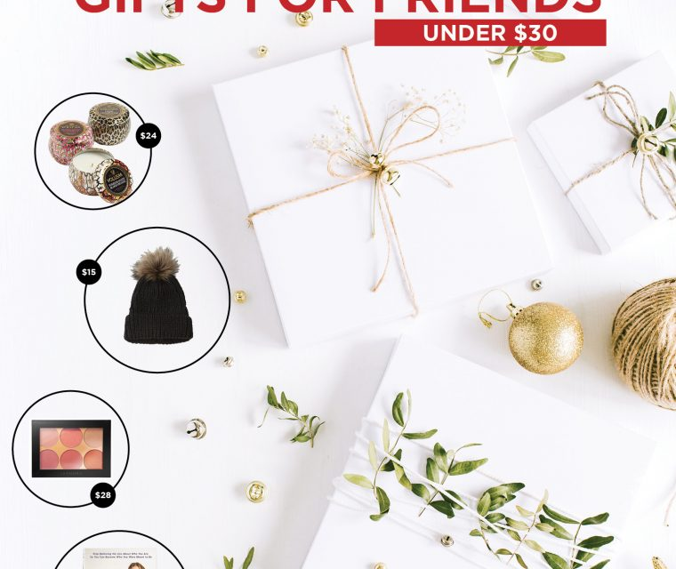 Affordable Christmas Gifts for Friends 2018