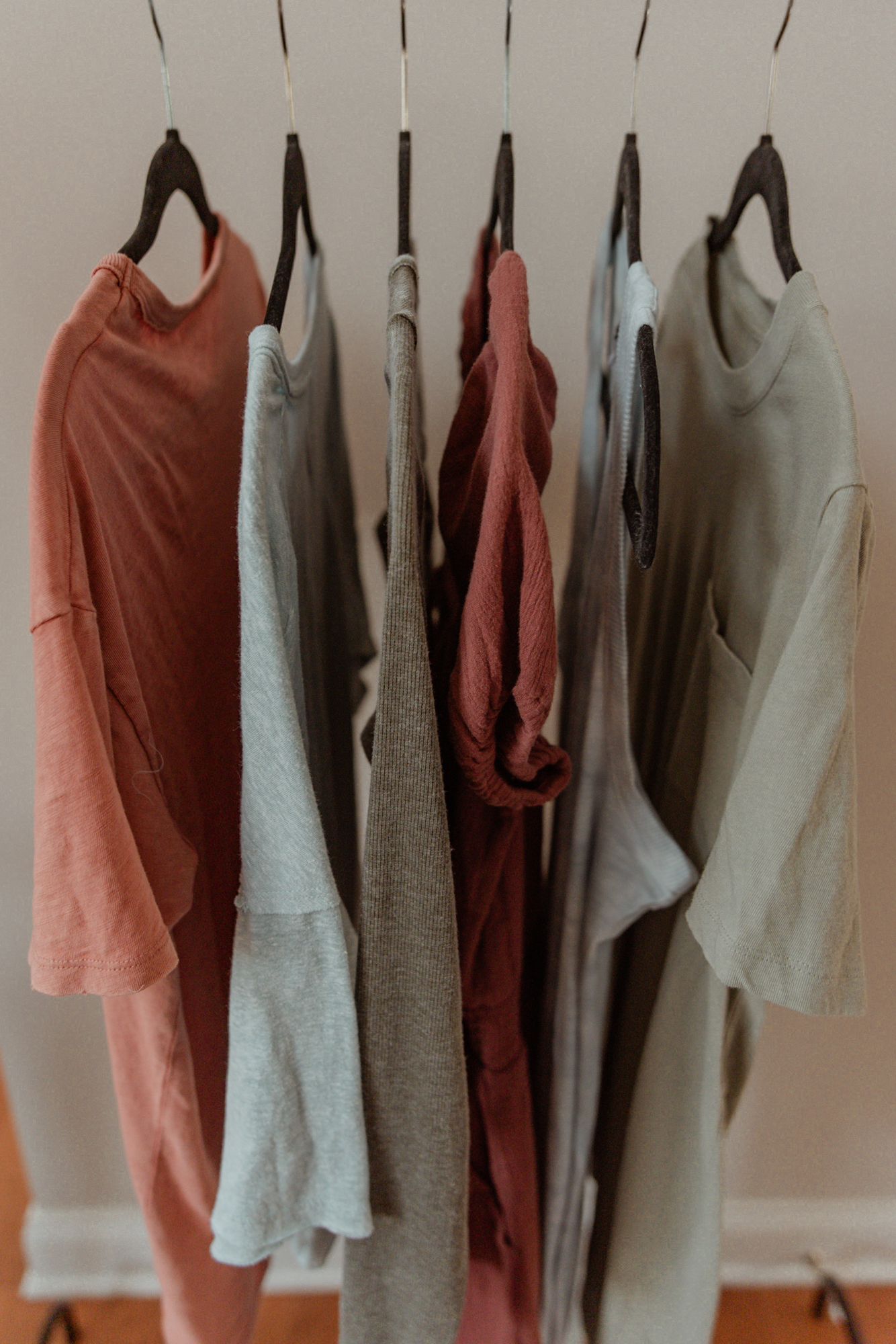 A sample of some great capsule wardrobe accent colors.