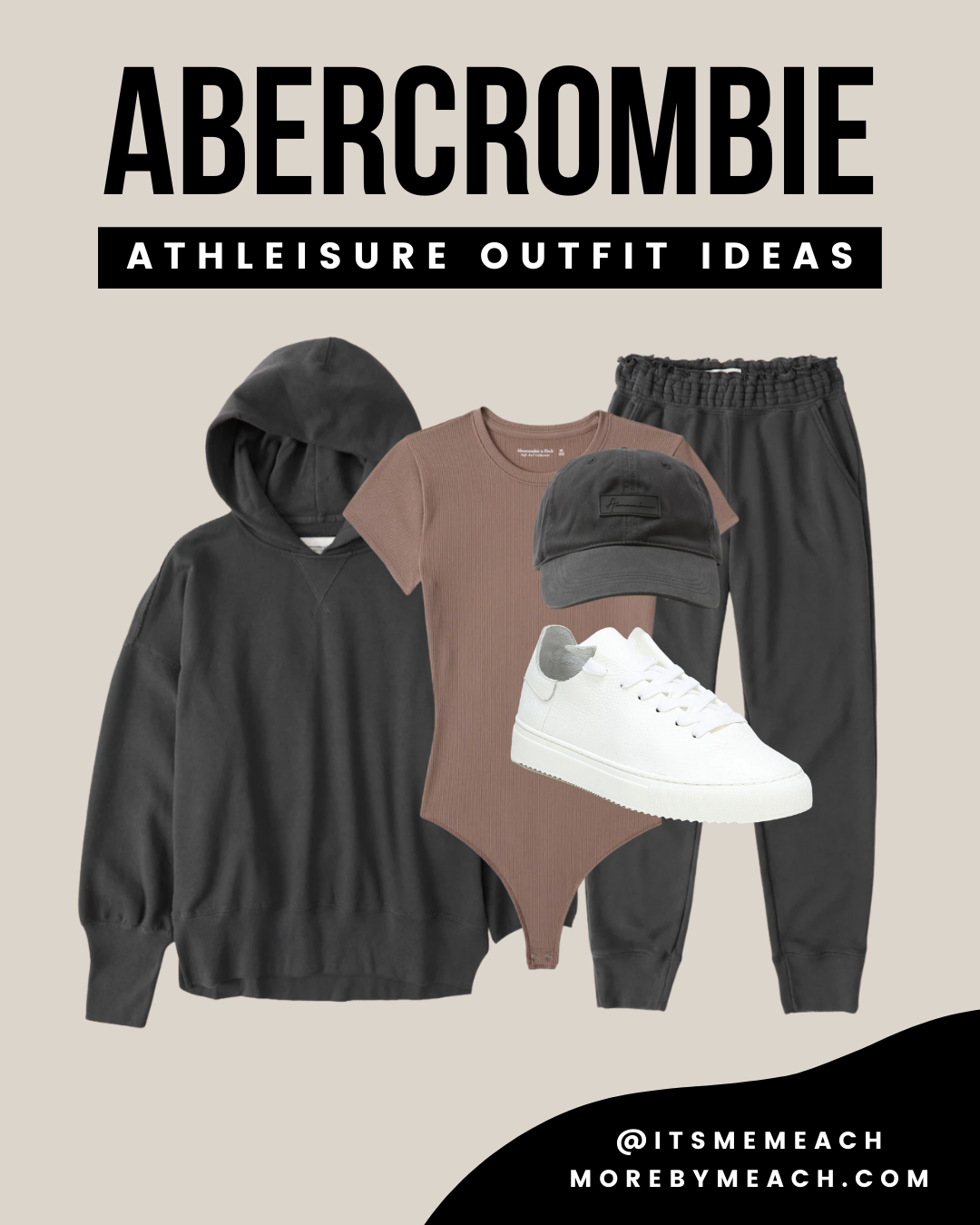 A cute sweatpants outfit 2021 from Abercrombie and Fitch.