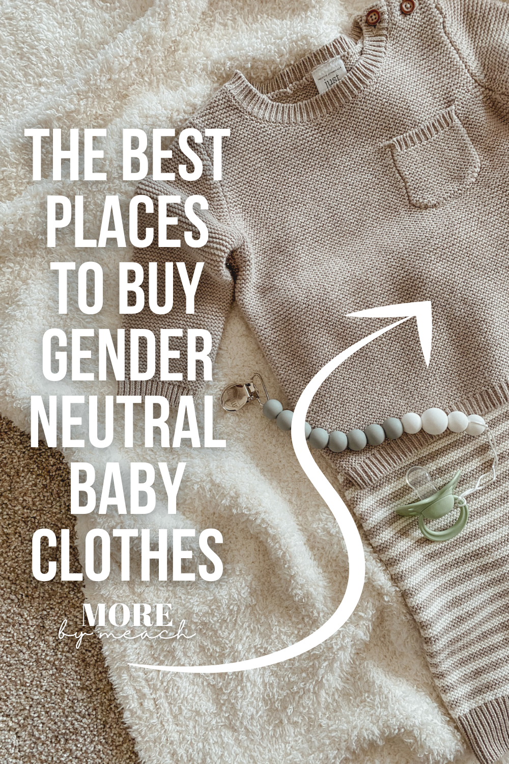 """A graphic that says """"The Best Places to Buy Gender Neutral Baby Clothes""""."""